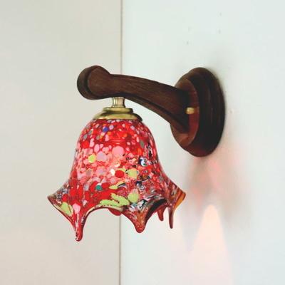 ベネチアングラスブラケットランプ fc-ww016g-fazoletto-red