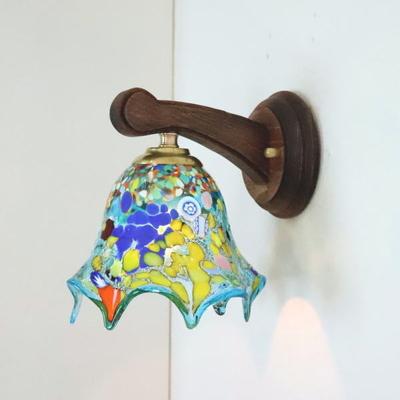 ベネチアングラスブラケットランプ fc-ww016g-fazoletto-lightblue