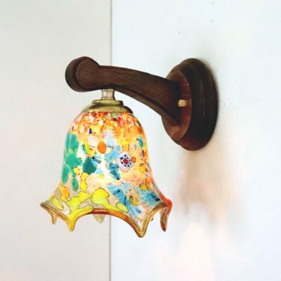 ベネチアングラスブラケットランプ fc-ww016g-fazoletto-amber