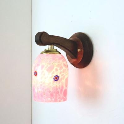 ベネチアングラスブラケットランプ fc-ww016g-pasta2-goto-white-pink