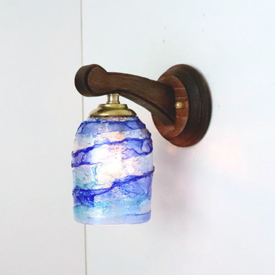 ベネチアングラスブラケットランプ fc-ww016g-sbruffo-blue-lightblue