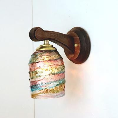 ベネチアングラスブラケットランプ fc-ww016g-sbruffo-amethyst-lightblue-amber