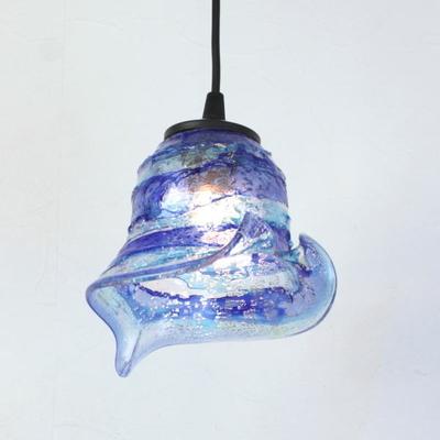 ベネチアングラスペンダントライト 品番.di-calla-sbruffo-blue-lightblue-sc