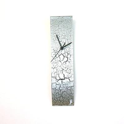 グラスデザイン掛け時計 crackled10x41silver