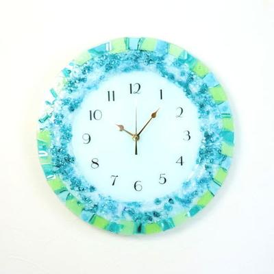 ベネチアングラス掛け時計 pelt06-19t-blue