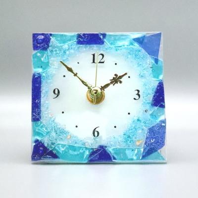 ベネチアングラス置時計 品番.pelt01-89-q
