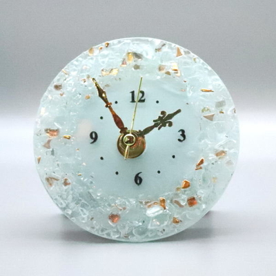 ベネチアングラス置時計 品番.pelt01-82t