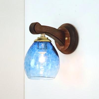 Azzurro Glass Studioブラケットランプ fc-ww016g-frit-blue-no10