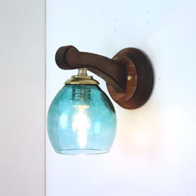 Azzurro Glass Studioブラケットランプ fc-ww016g-frit-tourmaline-no9