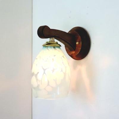Azzurro Glass Studioブラケットランプ fc-ww016g-frit-saradongreen-no3