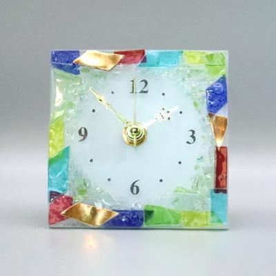 ベネチアングラス置時計 品番.pelt01-80-q