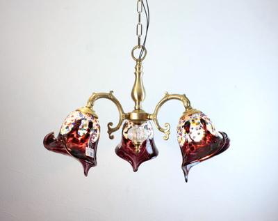 ベネチアングラスシャンデリア  fc-531-fantasy-calla-amethyst
