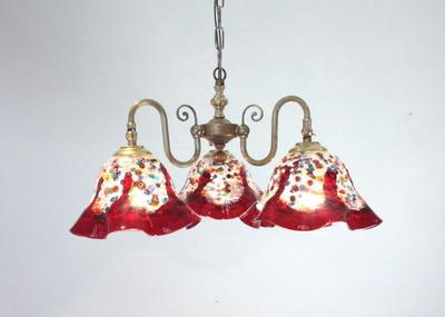 ベネチアングラスシャンデリア  fc-122-fantasy-smerlate-red
