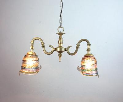 ベネチアングラスシャンデリア  fc-562-calla-sbruffo-amethyst-lightblue-amber