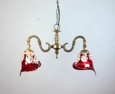 ベネチアングラスシャンデリア  fc-562-fantasy-calla-red
