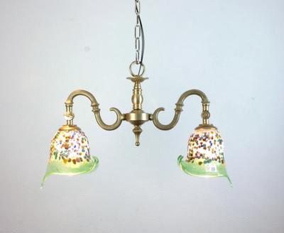 ベネチアングラスシャンデリア  fc-562-fantasy-calla-lightgreen