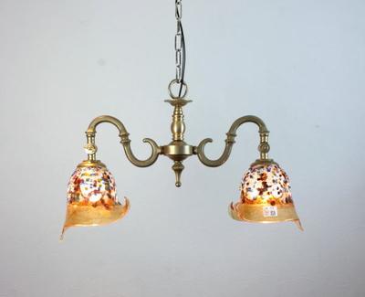 ベネチアングラスシャンデリア  fc-562-fantasy-calla-amber