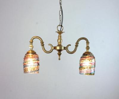 ベネチアングラスシャンデリア  fc-562-sbruffo-amethyst-lightblue-amber