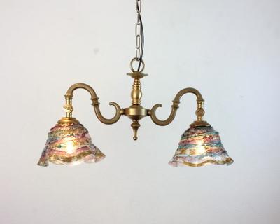 ベネチアングラスシャンデリア  fc-562-smerlate-sbruffo-amethyst-lightblue-amber