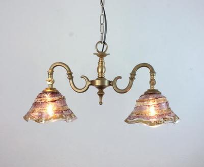 ベネチアングラスシャンデリア  fc-562-smerlate-sbruffo-amethyst-amber