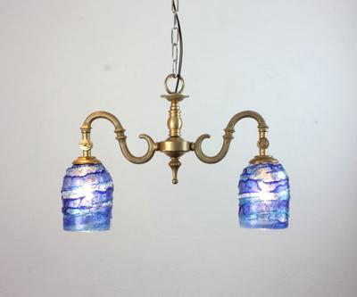 ベネチアングラスシャンデリア  fc-562-sbruffo-blue-lightblue
