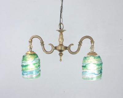 ベネチアングラスシャンデリア  fc-562-sbruffo-lightblue-green