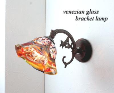 ベネチアングラスブラケットランプ fc-ww621-fantasy-smerlate-arlecchino