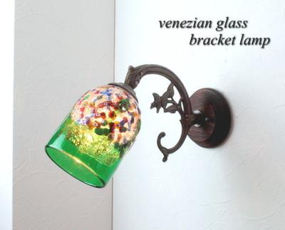 ベネチアングラスブラケットランプ fc-ww621-fantasy-goto-green