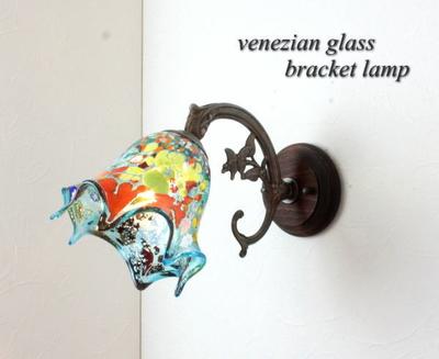ベネチアングラスブラケットランプ fc-ww621-fazoletto-lightblue