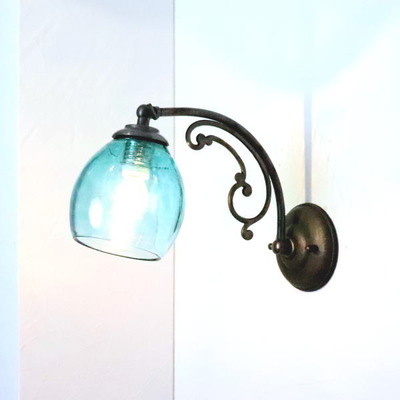 Azzurro Glass Studioブラケットランプ fc-w10ay-frit-tourmaline-no9