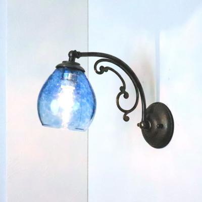 Azzurro Glass Studioブラケットランプ fc-w10ay-frit-tourmaline-no10