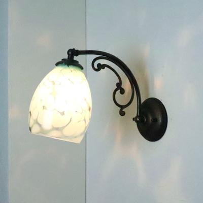 Azzurro Glass Studioブラケットランプ fc-w10ay-frit-saradongreen-no3