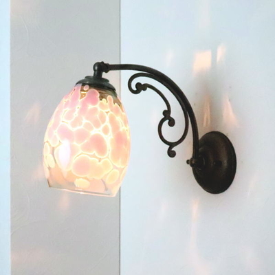 no4 Azzurro Glass Studioブラケットランプ fc-w10ay-frit-violet-smokedgreen-no4