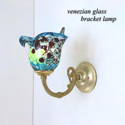 ベネチアングラスブラケットランプ fc-w634gy-silver-calla-lightblue