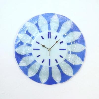 ベネチアングラス掛け時計 pelt06-40-t-blu