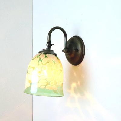 no17 Azzurro Glass Studioブラケットランプ fc-w004-bell-emerald-ivory-no17