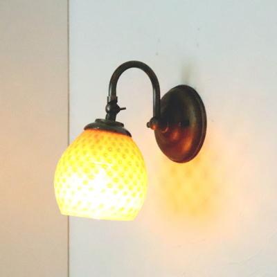 no8 Azzurro Glass Studioブラケットランプ fc-w004-dot-irisyellow-opaline-no8