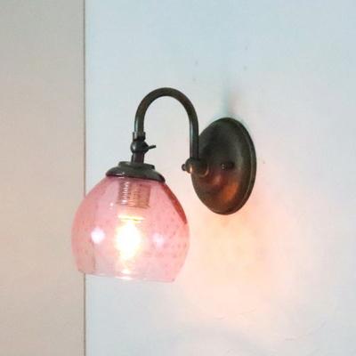 no6 Azzurro Glass Studioブラケットランプ fc-w004-dot-pink-no6