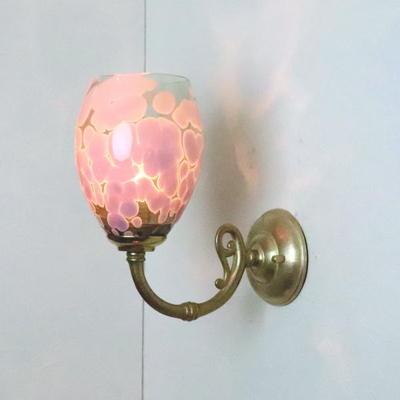 no4 Azzurro Glass Studioブラケットランプ fc-w634gy--frit-violet-smokedgreen-no4