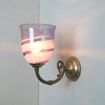 no18 Azzurro Glass Studioブラケットランプ fc-w634gy-uzu-purple-no18