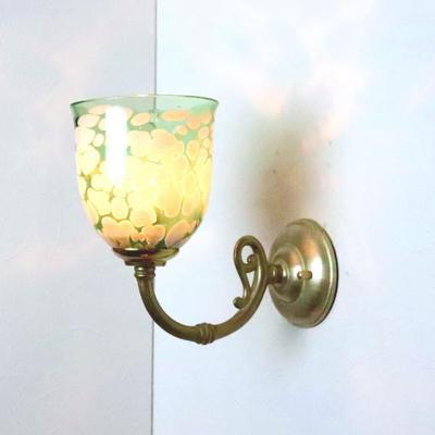 no17 Azzurro Glass Studioブラケットランプ fc-w634gy-bell-emerald-ivory-no17