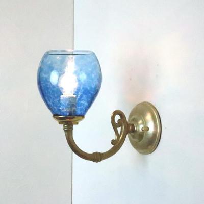 no10 Azzurro Glass Studioブラケットランプ fc-w634gy-frit-blue-no10