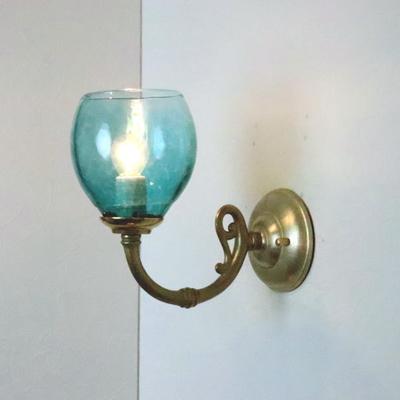 no9 Azzurro Glass Studioブラケットランプ fc-w634gy-frit-tourmaline-no9