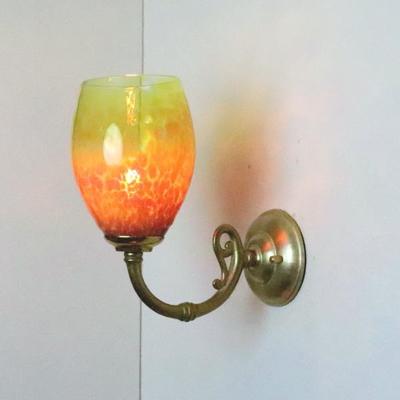 no1 Azzurro Glass Studioブラケットランプ fc-w634gy-frit-irisyellow-no1