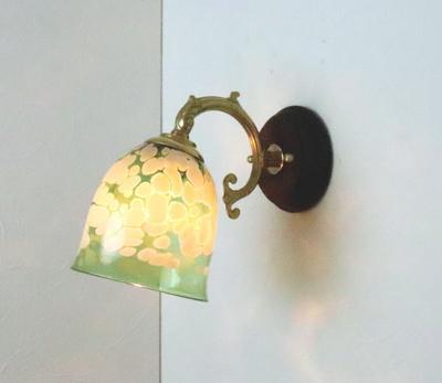no17 Azzurro Glass Studioブラケットランプ fc-ww530g-bell-emerald-ivory-no17