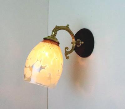 no2 Azzurro Glass Studioブラケットランプ fc-ww530g-frit-mustard-no2