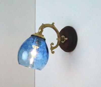 no10 Azzurro Glass Studioブラケットランプ fc-ww530g-frit-blue-no10