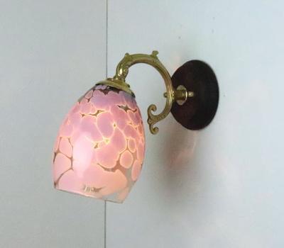 no4 Azzurro Glass Studioブラケットランプ fc-ww530g-frit-violet-smokedgreen-no4