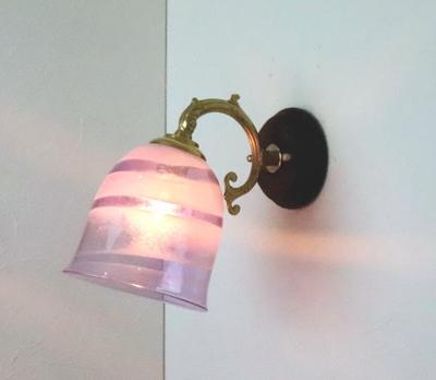 no18 Azzurro Glass Studioブラケットランプ fc-ww530g-uzu-purple-no18