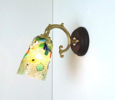 ベネチアングラスブラケットランプ fc-ww530g-monet-green